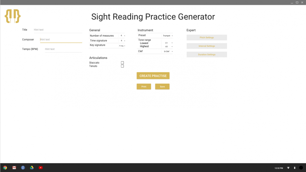 OSME Sight Reading Practice Generator › Open Sheet Music